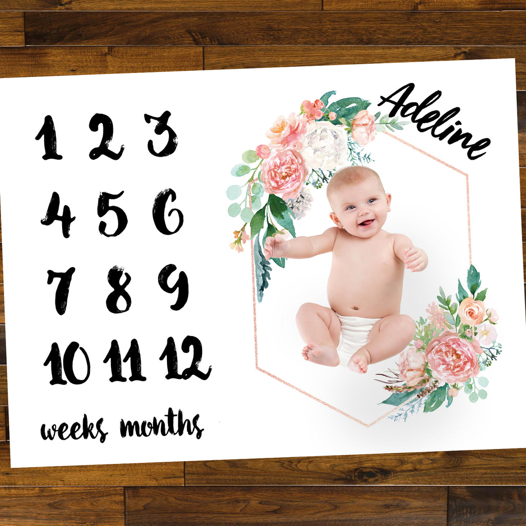 Floral Baby Age Mat - Wedding Decor Gifts
