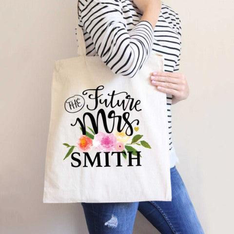 Personalized Wedding Tote Bag - Wedding Decor Gifts
