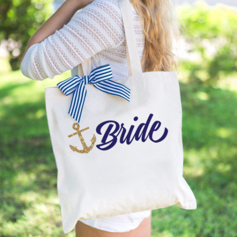 Nautical Bride Tote Bag - Wedding Decor Gifts
