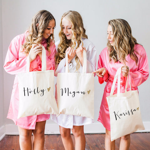Personalized Glam Tote Bag - Wedding Decor Gifts