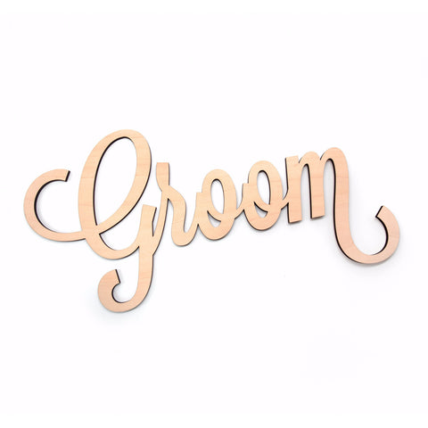 "Matching ""Groom"" Chair Sign - Wedding Decor Gifts"