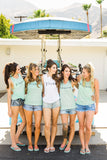 Bridesmaid and Bride Shirts Tanks, Beach Bachelorette Bridal Party Tops, Bridesmaid Shirts Bride Flowy Boho Tanks