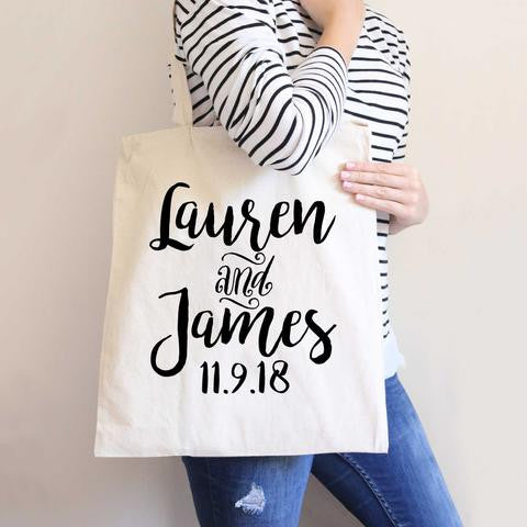 Simply Personalized Tote Bag - Wedding Decor Gifts