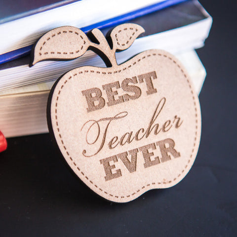 """Best Teacher Ever"" Badge - Wedding Decor Gifts"