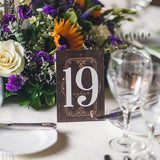 Vintage Book Table Numbers on Stands - Wedding Decor Gifts