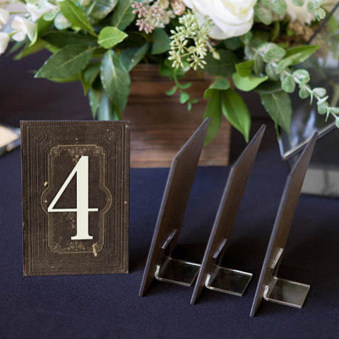 Wedding Table Numbers on Stands
