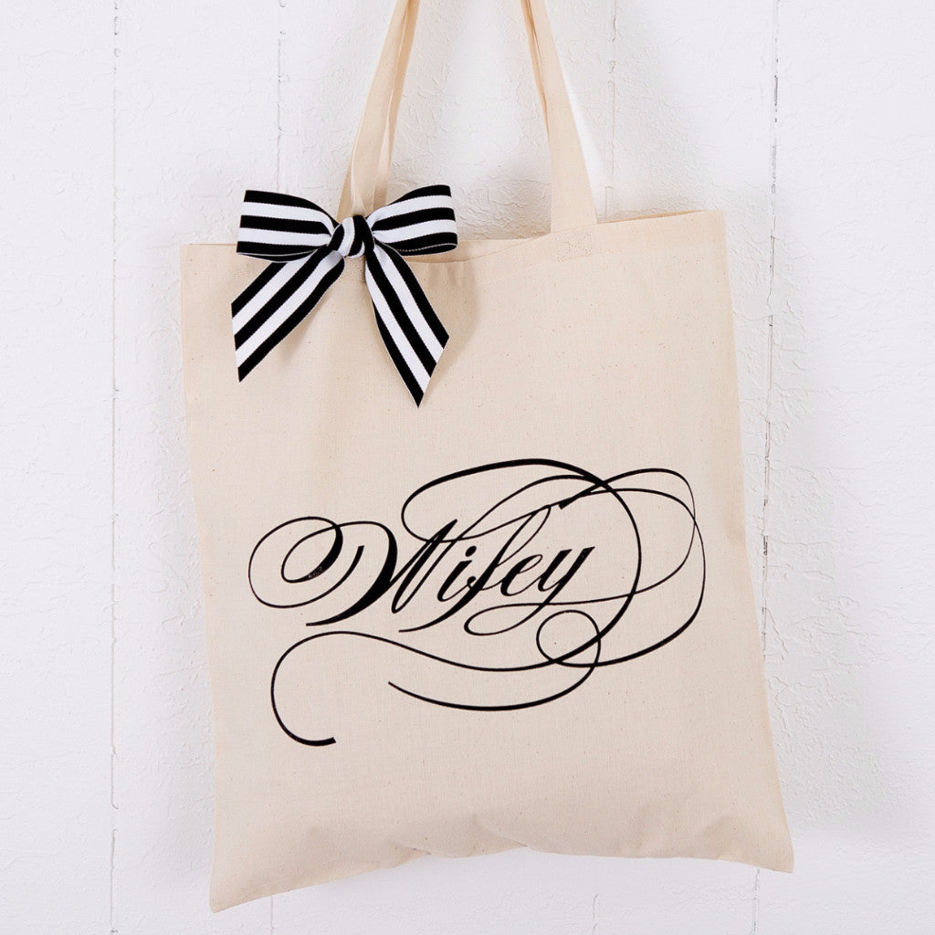 Romantic Wifey Wedding Tote Bag - Wedding Decor Gifts