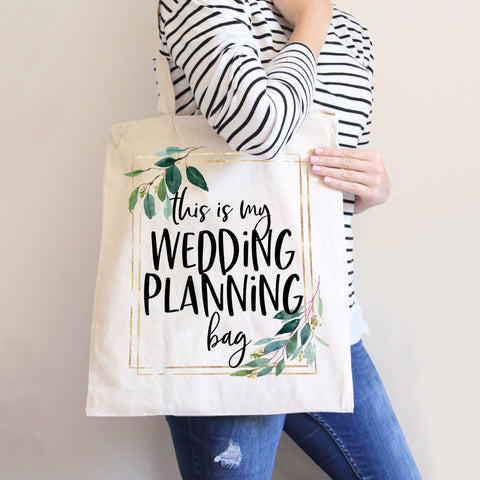 Wedding Planning Tote Bag for Bride or Bridal Shower Gift - Wedding Decor Gifts