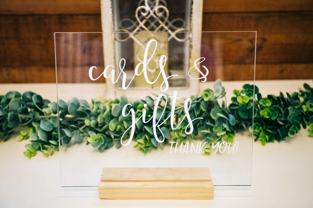 Cards & Gifts Sign - Wedding Decor Gifts
