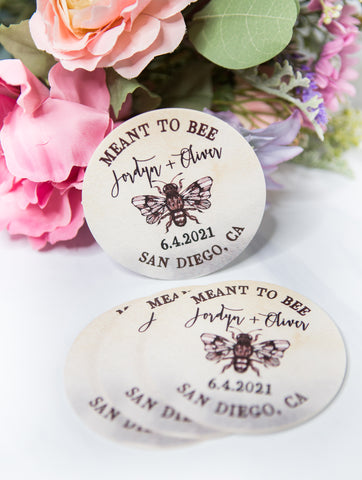 Bee Wedding Wedding Favor Coasters - Wedding Decor Gifts