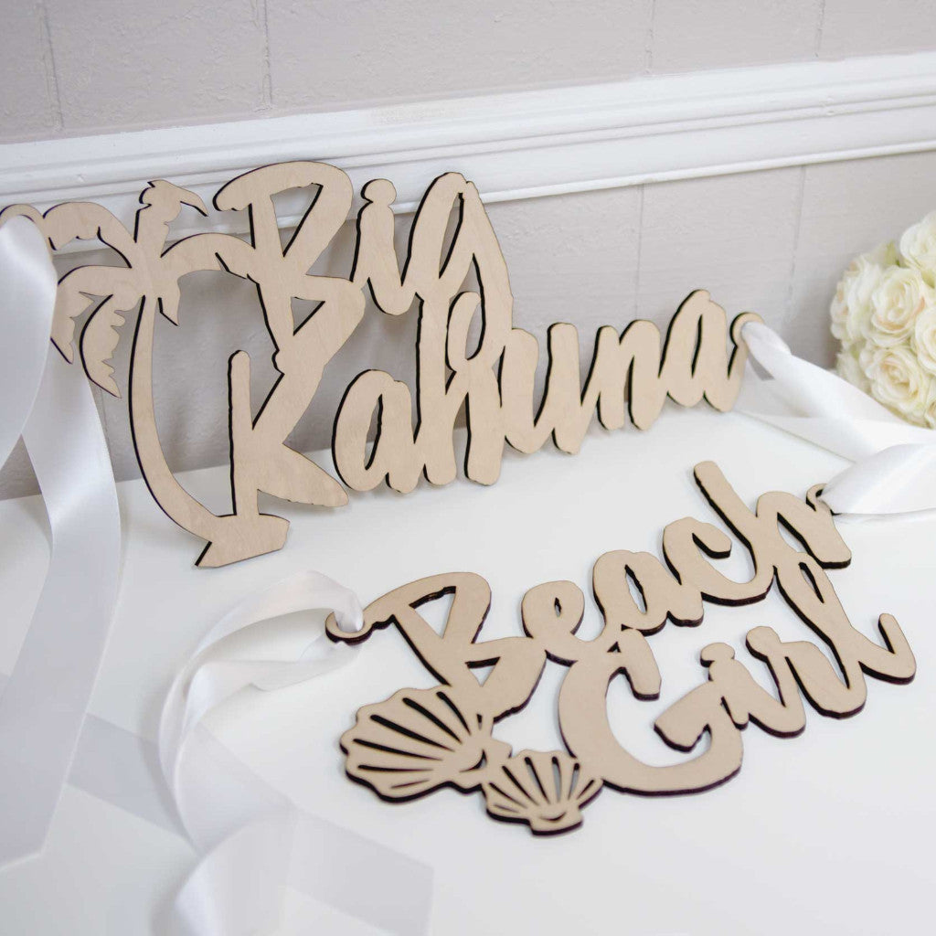 Beach Wedding Chair Signs - Wedding Decor Gifts