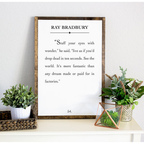 Wanderlust Quote Framed Artwork - Wedding Decor Gifts