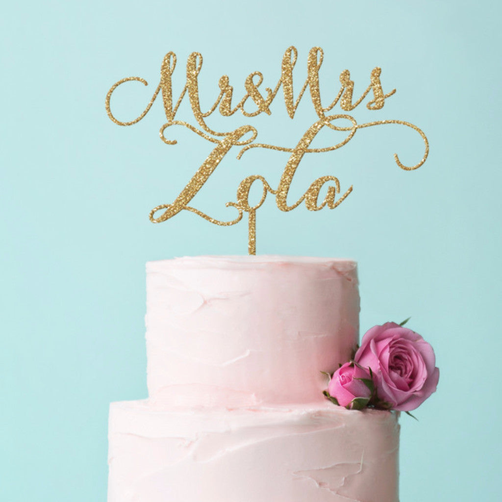 Personalized Wedding Cake Topper - Wedding Decor Gifts