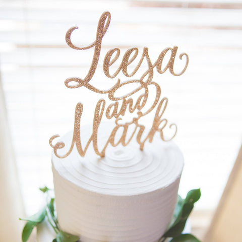 Personalized Names Cake Topper - Wedding Decor Gifts