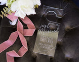 Personalized Wedding Door Hanger - Wedding Decor Gifts