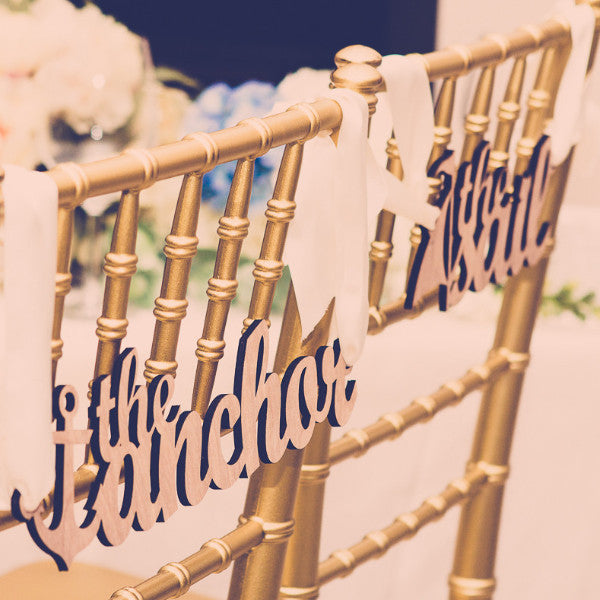 Chair Signs Sign for Nautical Wedding - Wedding Decor Gifts