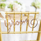 Rustic Bride & Groom Chair Signs - Wedding Decor Gifts
