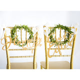 "Fairytale Wedding Chair Signs ""Happily Ever After"" - Wedding Decor Gifts"