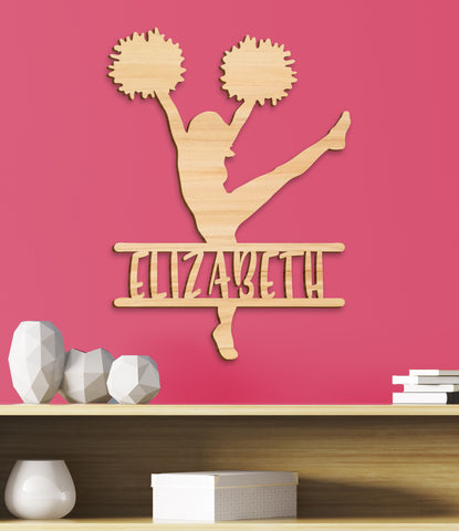 Cheerleader Girl's Room Sign, Cheer Sign Girls Gift Decor