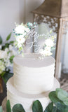 Clear Acrylic Floral Wedding Cake Topper - Wedding Decor Gifts