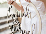 "24"" Custom Hoop Style Wedding Sign - Wedding Decor Gifts"