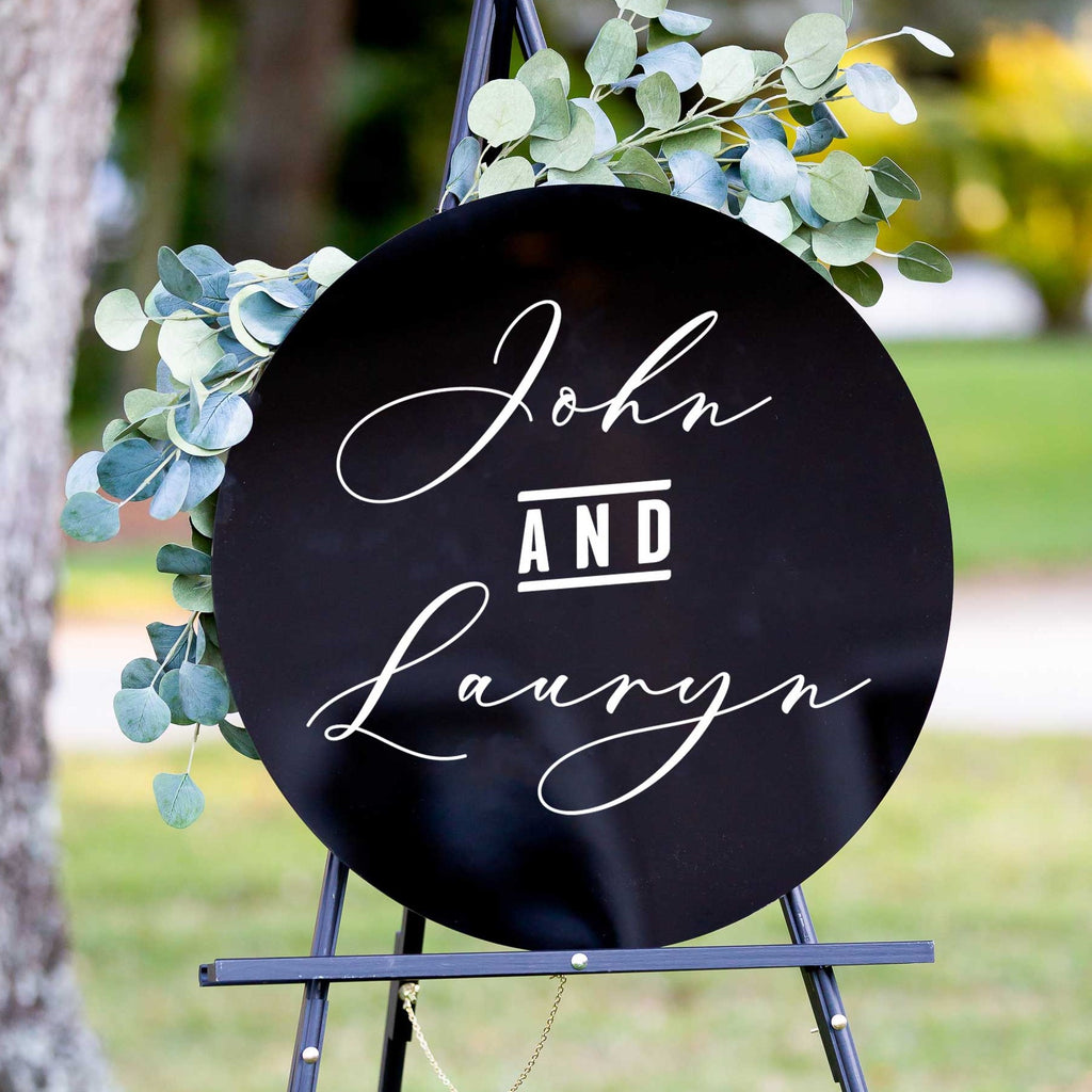 Names Circle Wedding Welcome Sign - Wedding Decor Gifts