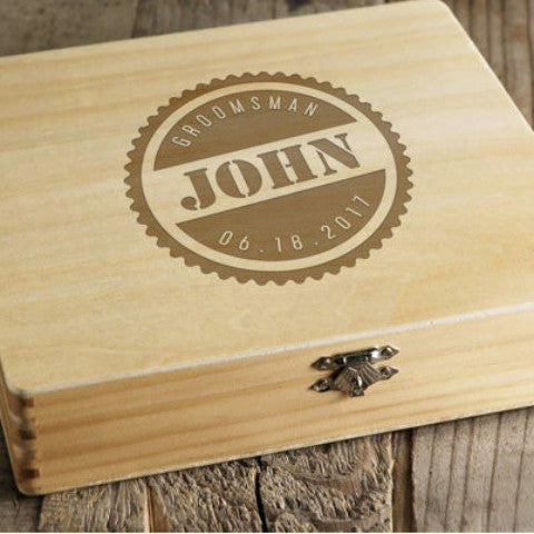 Cigar Box for Groomsmen Best Man - Wedding Decor Gifts