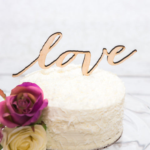 Love Cake Topper - Wedding Decor Gifts