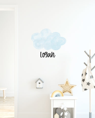 Cloud Name Decal for Nursery or Bedroom Kids or Baby Decor - Wedding Decor Gifts