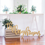 Custom Last Name Wedding Sign - Wedding Decor Gifts