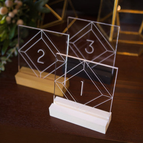 Acrylic Table Numbers for Wedding Tables – Z Create Design