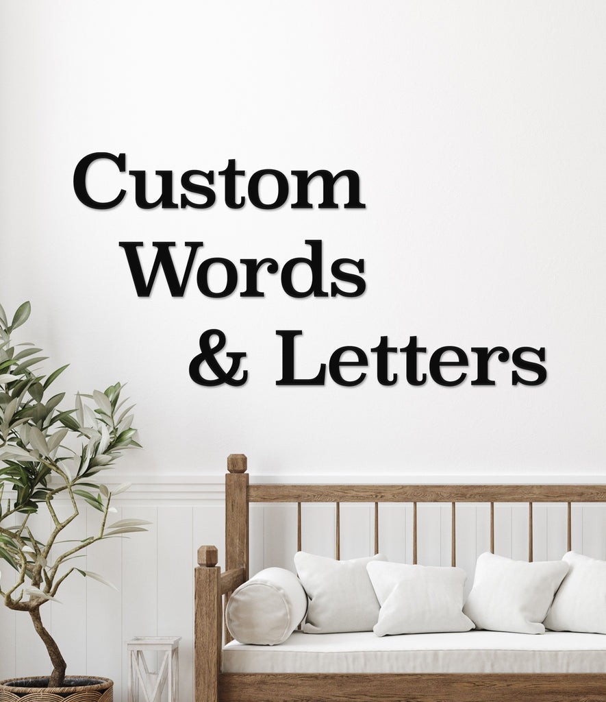 Custom Words and Letters for Wall DIY Wood Letters Large Wall Decor Paintable DIY Home Decor Kids Room Name Any Word Words for Wall