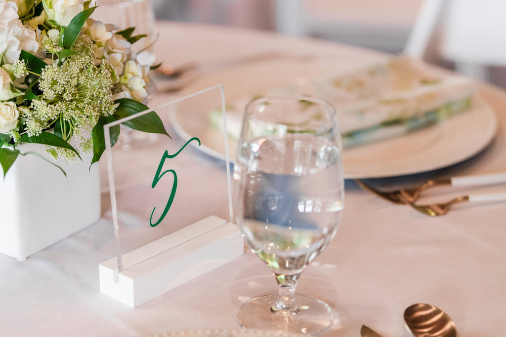 Table Numbers for Wedding Tables, Acrylic Number Signs, Party or Event, Clear Acrylic Wedding Sign Decor Table Number Signs