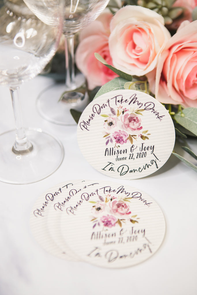 Don't Take My Drink Wedding Coasters - Wedding Decor Gifts