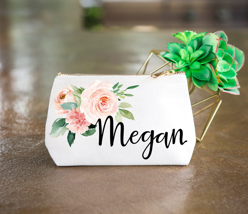Bridesmaid Gift Makeup Bags with Name - Wedding Decor Gifts