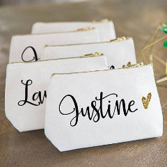 Personalized Makeup Bag - Wedding Decor Gifts
