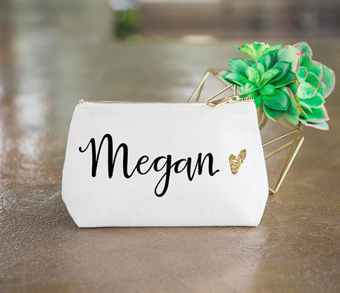 Personalized Makeup Bag