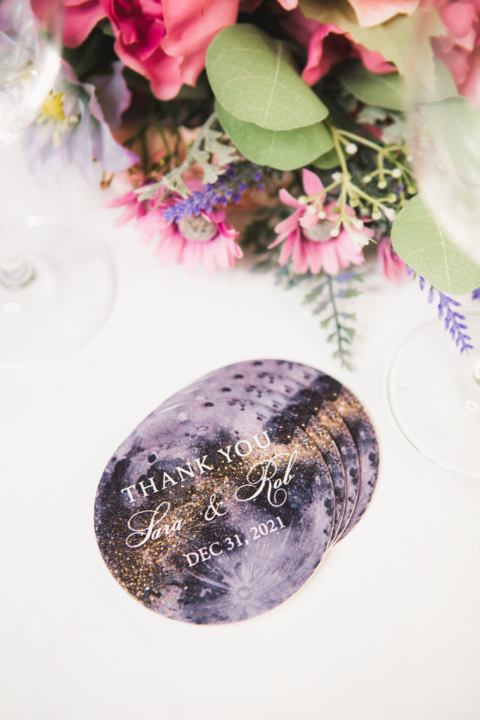 Moon Wedding Theme/Wedding Favor Coasters - Wedding Decor Gifts