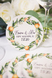 Orange Blossoms Wedding Favor Coasters - Wedding Decor Gifts