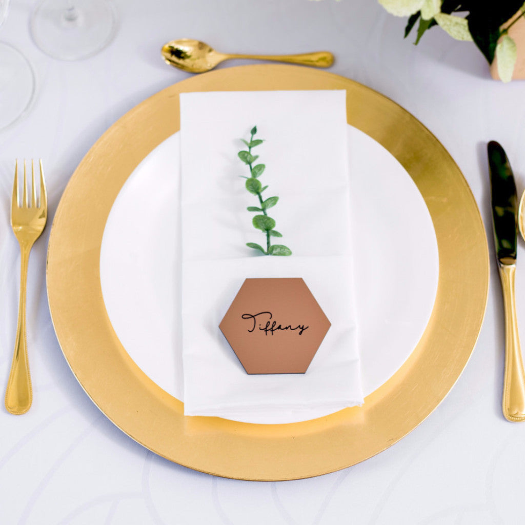 Copper Wedding Place Cards - Wedding Decor Gifts