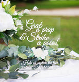 Clear Wedding Photo Prop Sign - Wedding Decor Gifts