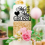 Personalized Mr & Mrs Customized Wedding Cake Topper - Wedding Decor Gifts