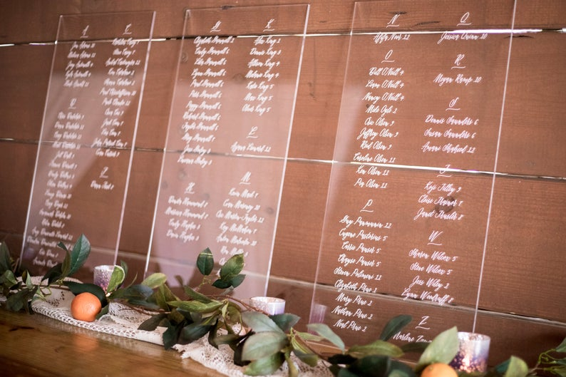 Custom Wedding Seating Chart Sign - Wedding Decor Gifts