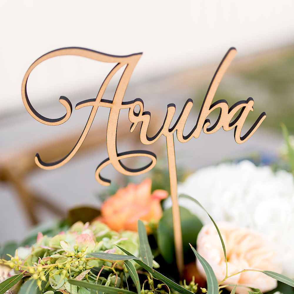 Custom Table Number Words - Wedding Decor Gifts