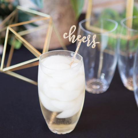 "Party Stir Sticks ""Cheers!"" - Wedding Decor Gifts"