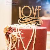Art Deco Love Cake Topper - Wedding Decor Gifts