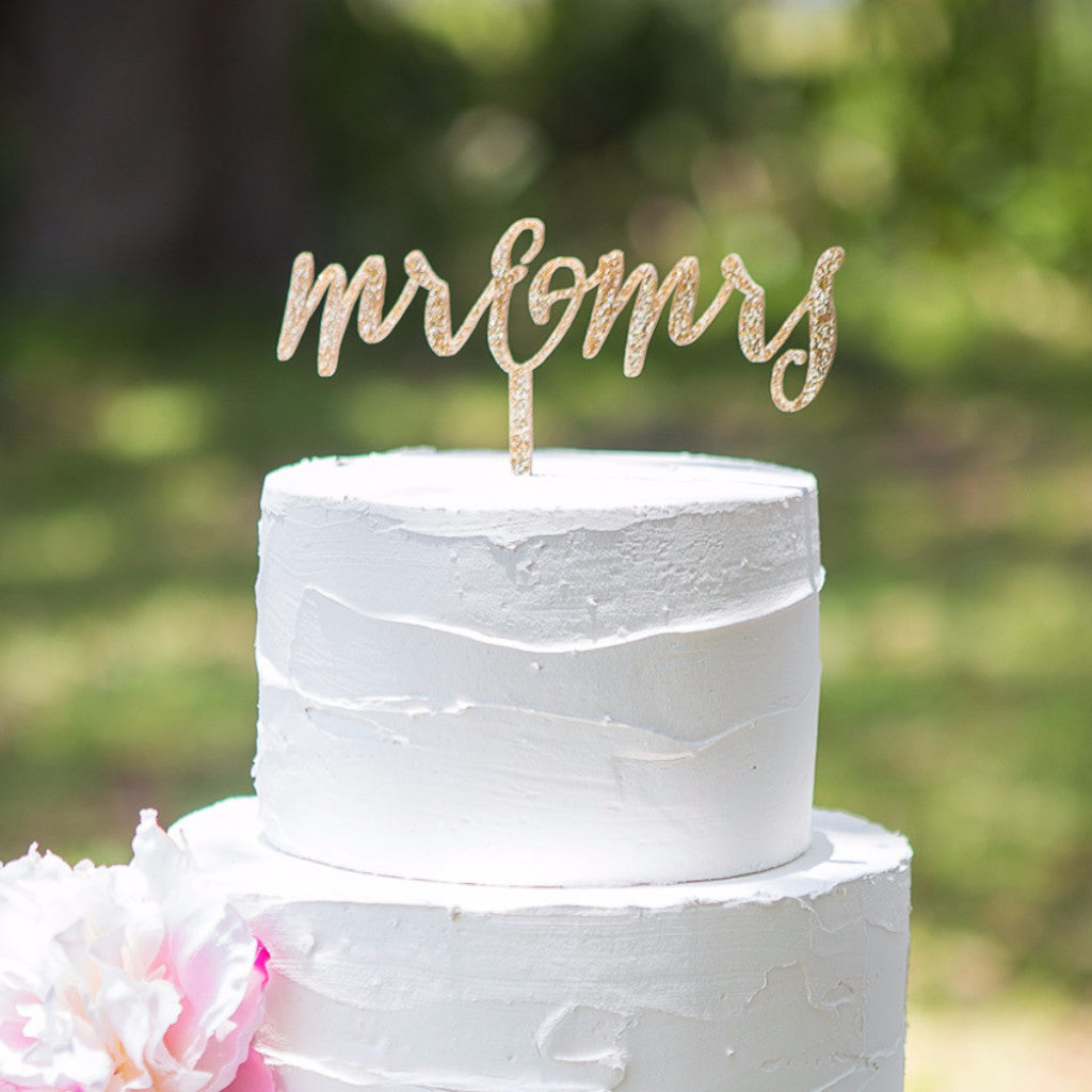 Mr & Mrs Rustic Chic Cake Topper - Wedding Decor Gifts