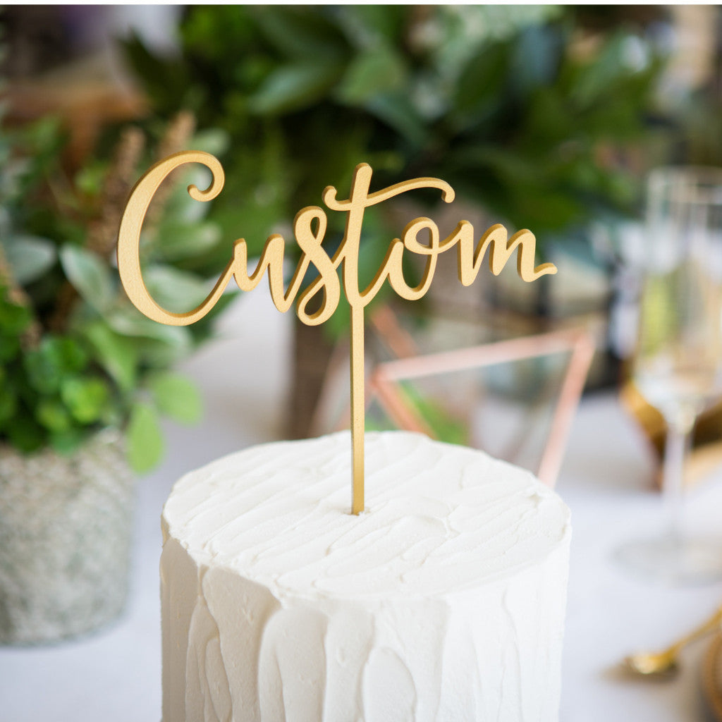 Custom Cake Topper - Wedding Decor Gifts