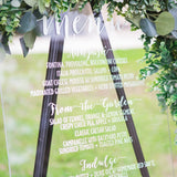 Custom Wedding Menu Sign - Wedding Decor Gifts