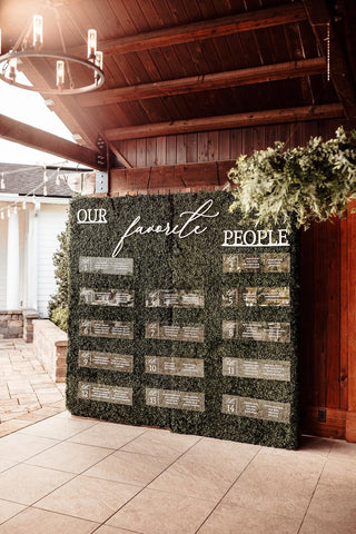 Custom Wedding Seating Chart Wall, Escort Card Clear Panels, Favorite People or Custom Words and Clear Acrylic Panels Wedding Wall